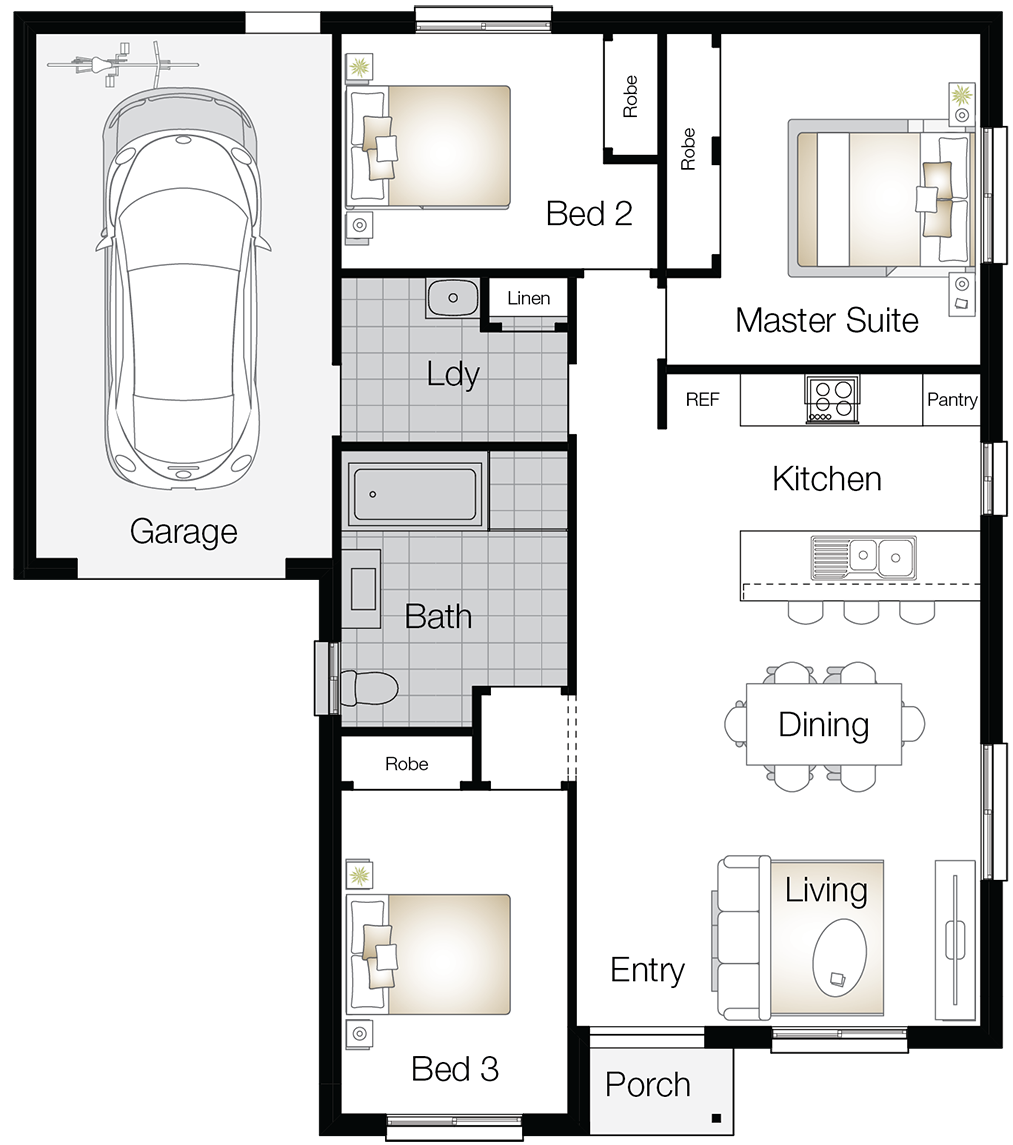 Northumberland – Single Storey Floor Plan - Wilson Homes
