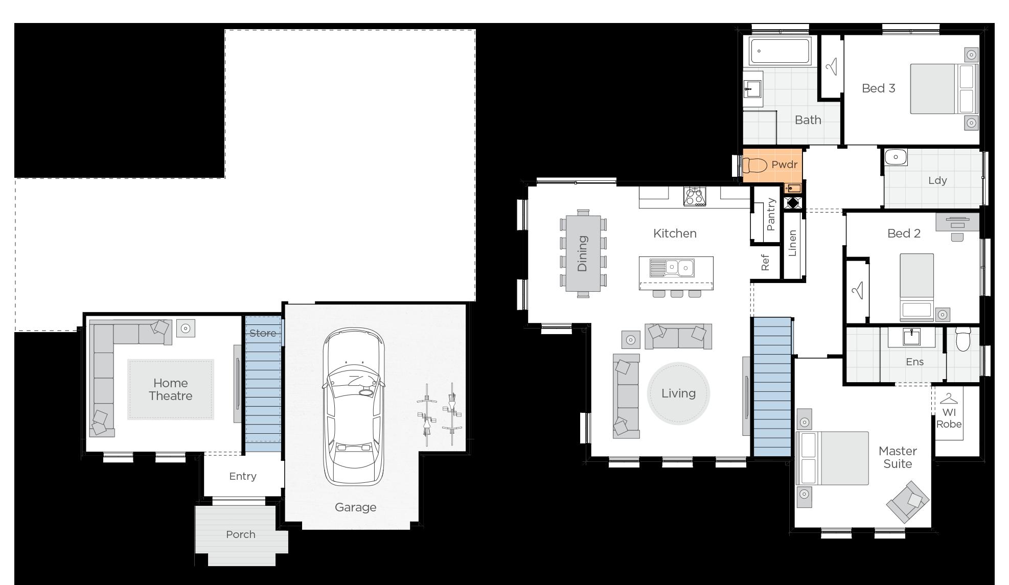 Anchorage One Upgrade floorplan lhs