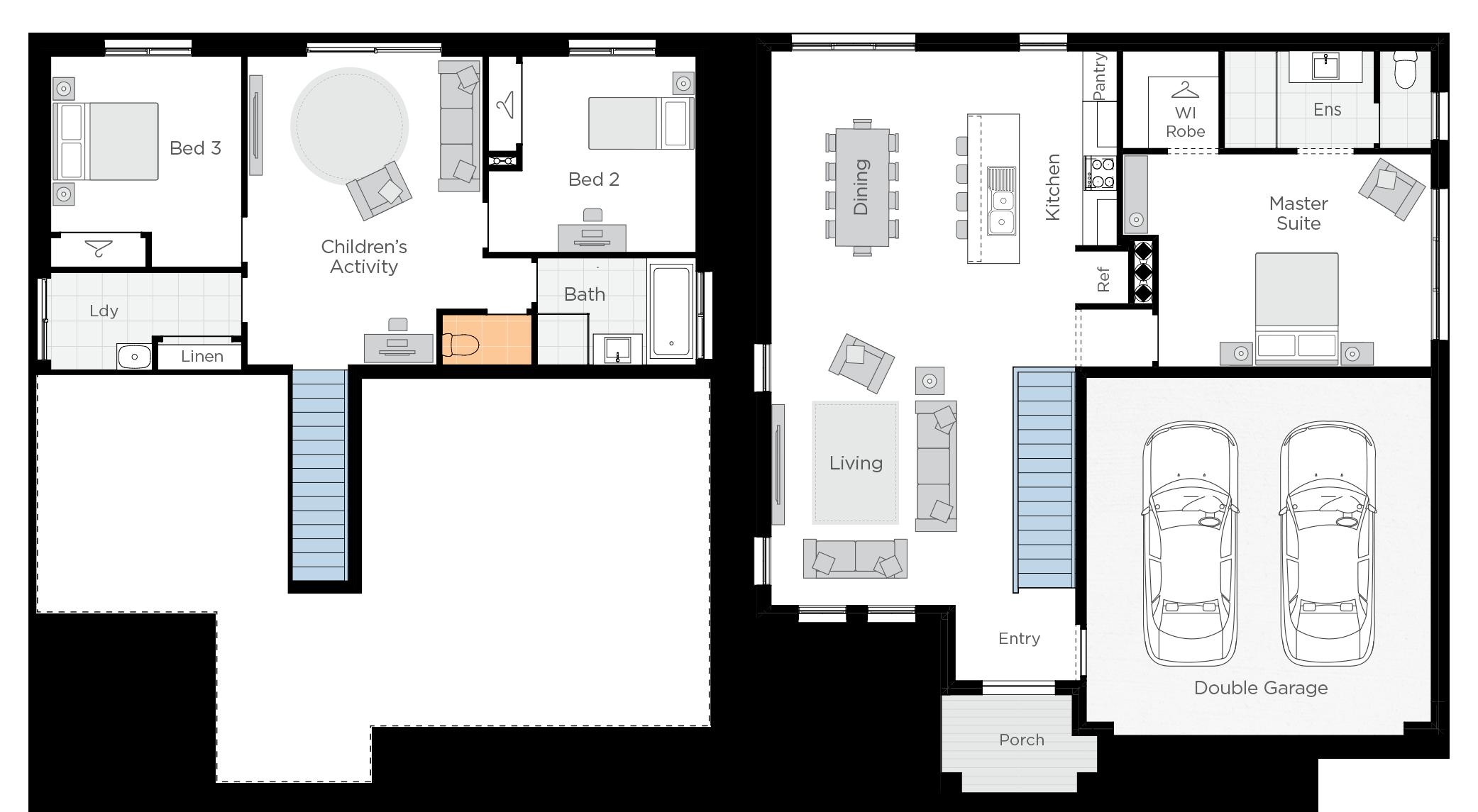 Anchorage Three Upgrade floorplan lhs