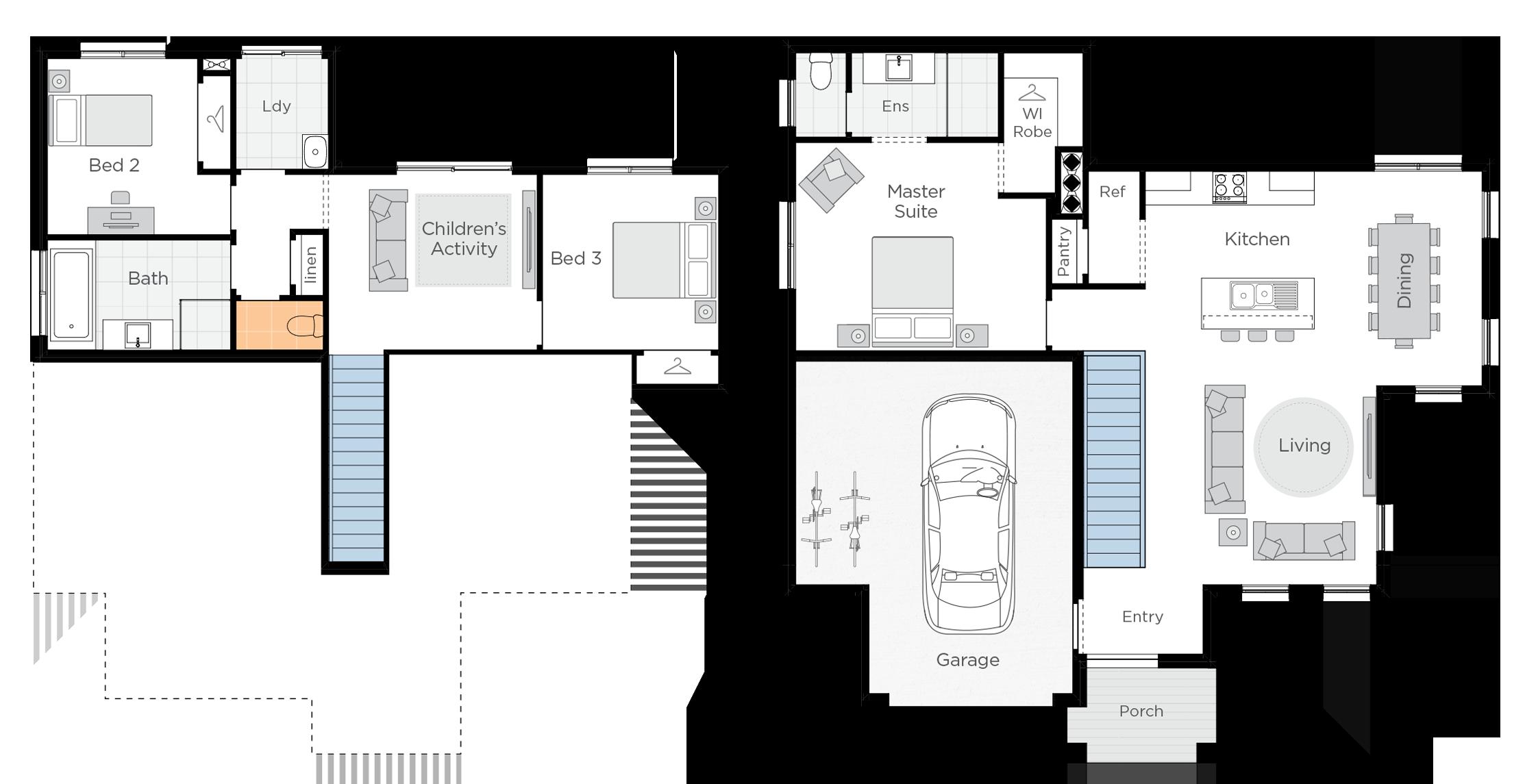 Anchorage Two Upgrade floorplan lhs