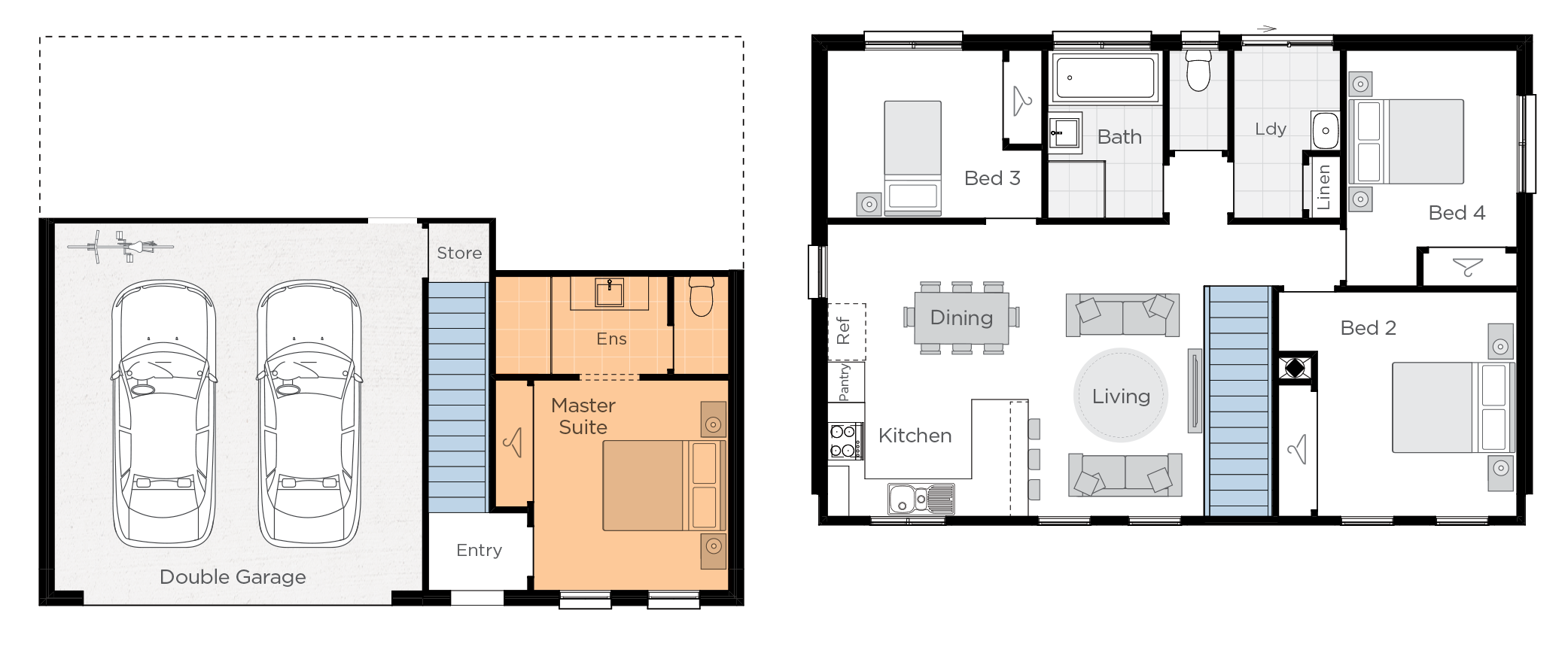 Bayside Upgrade floorplan lhs
