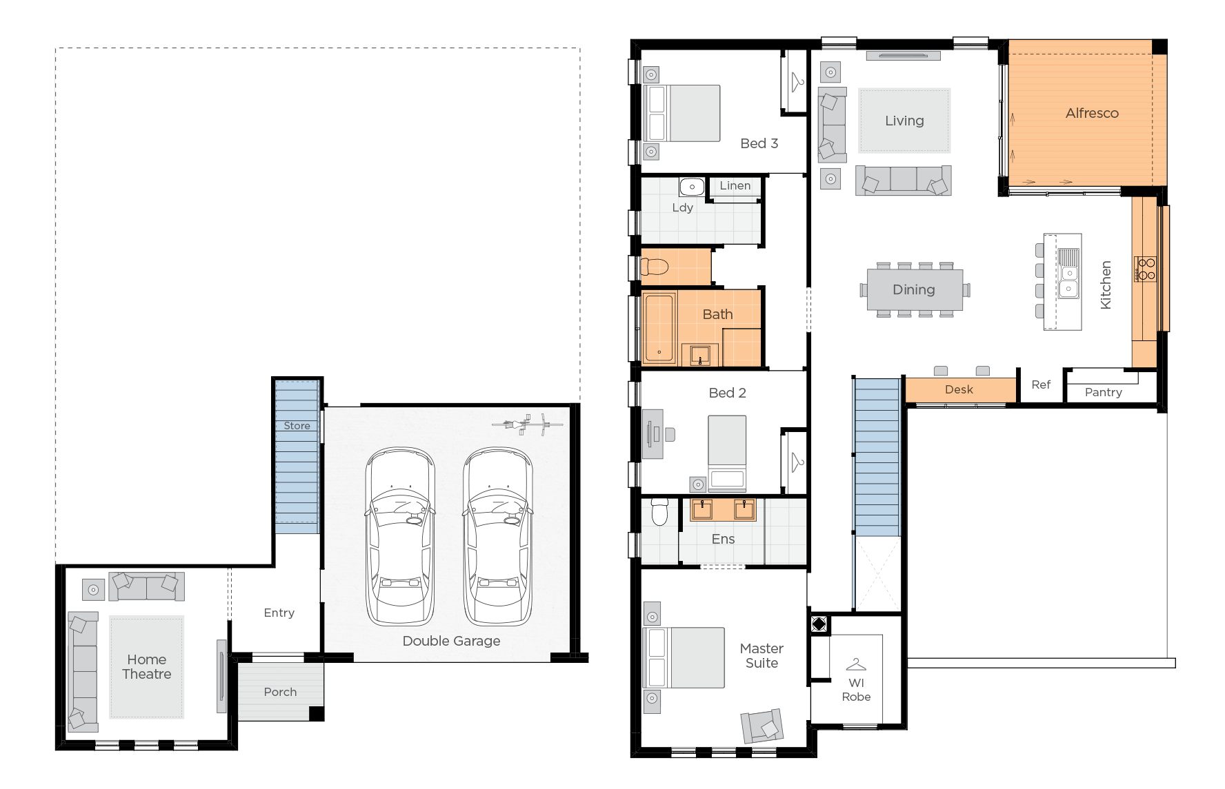 Coastal Retreat Upgrade floorplan lhs