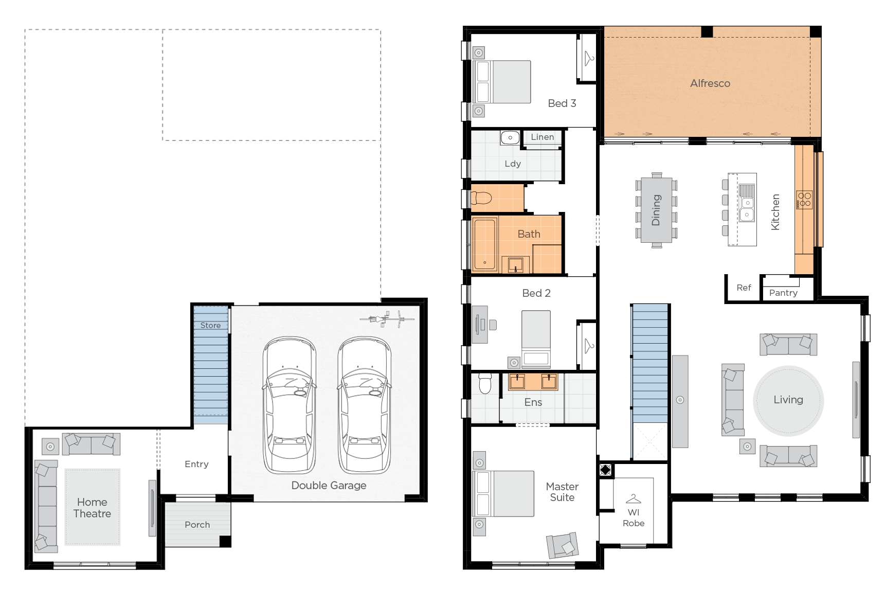 Lakeside Upgrade floorplan lhs