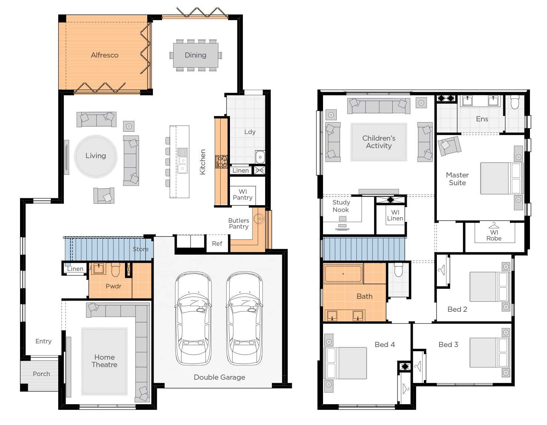 Oceania Upgrade floorplan lhs