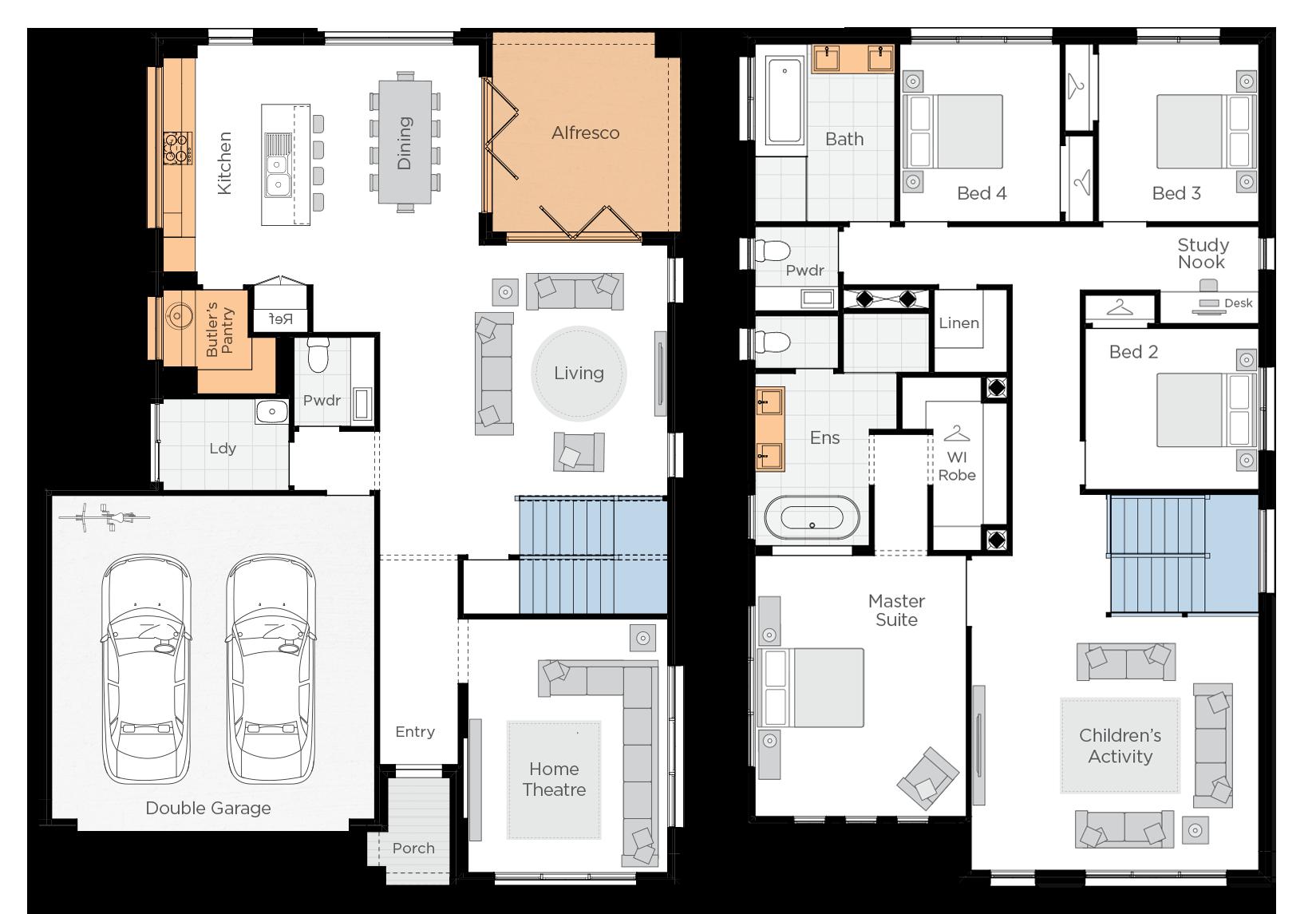 Seabreeze Upgrade floorplan lhs